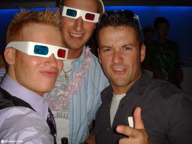 3D glasses at CiRCA nightclub in Toronto, Ontario, Canada
