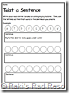 twister make a sentence sheet - free download
