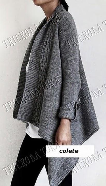 chaleco tejido en una pieza plantilla3