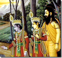Vishvamitra with Lakshmana and Rama