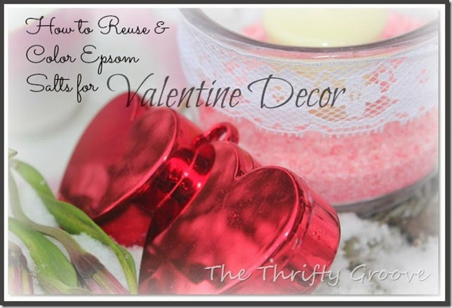 How to make pretty pink epsom salts for Valentines Day