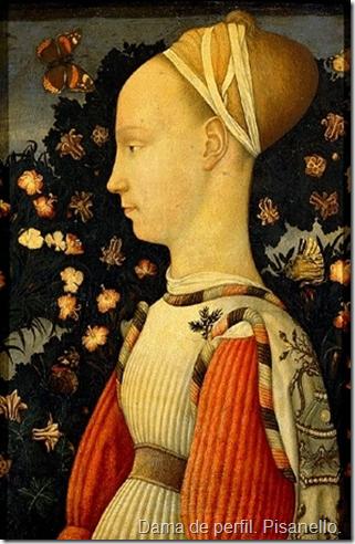 Dama de perfil. Pisanello.