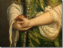 1555, Portrait of a Lady (decoration detail), Titian (Veneti