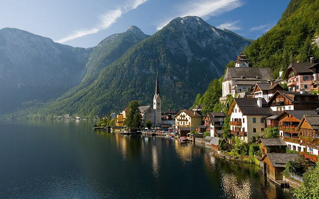Europe : Eine Kliene stadt von Austria(Hallstatt Village).