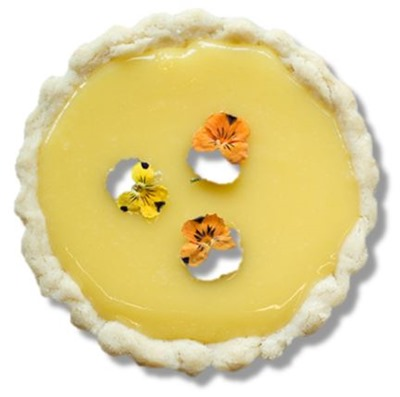 Edible Flowers Tart Photo via Terrain