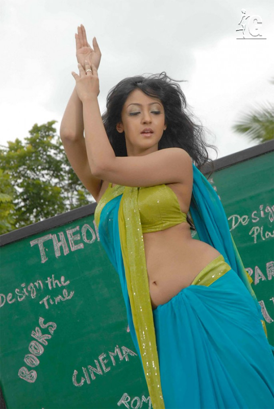 Aindrita Ray Curvy Photo Shoot in Green Saree