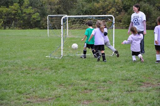 Eli scores a goal
