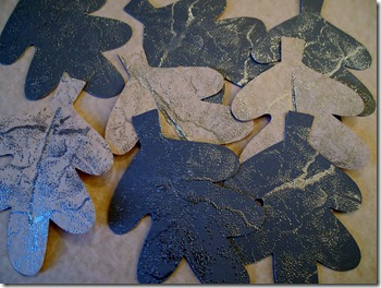 Embossed Oak Leaves