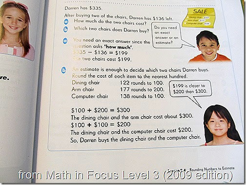 Snapshot from Math in Focus 3A (2009 edition)