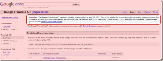 Google-Translate Api