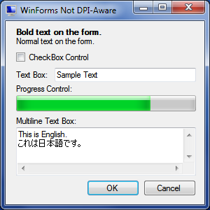 WinForms Not DPI-Aware - 96 PPI