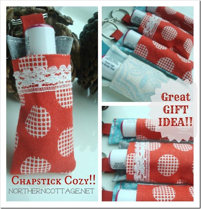 chapstick cozy gift idea