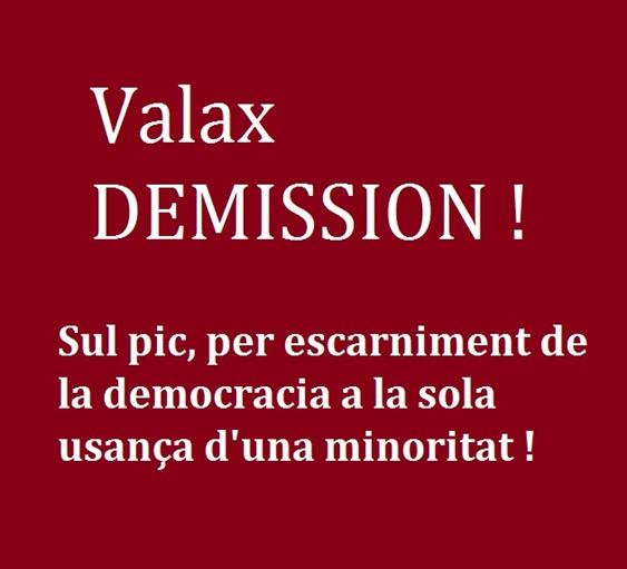 Valax demission