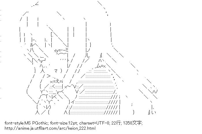 [AA]琴吹紬 (けいおん!)