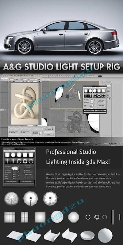 3dmaxstuff.com_Studio Light Setup Rig for 3DS Max