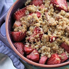 GFG's Gluten-Free Strawberry Rhubarb Crisp-Crumble