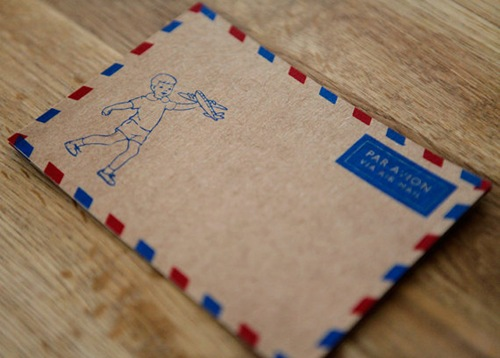 Par Avion Post Cards by Humunuku Shoppe