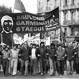 1975: Bayonne, manifestation en soutien aux condamnés à mort par Franco