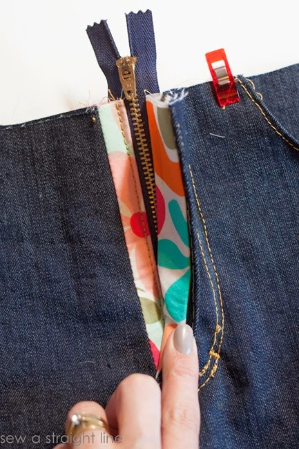 zipper fly jeans sew along sew a straight line-32