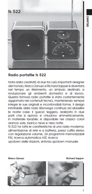 Brionvega TS 522 User Manual