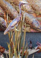 1403077 Mar 14 Egret In Reeds Sculture