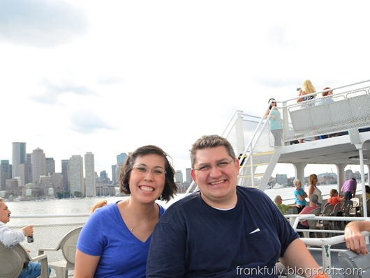 Brandon and Victoria on Boston Harbor Cruise