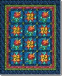 flower star UN island batiks