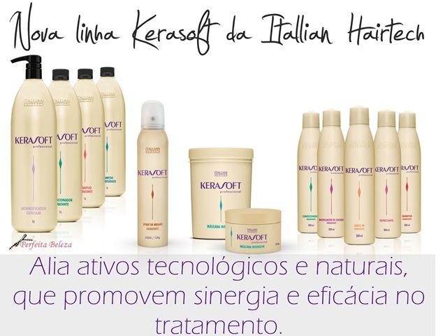 linha kerasoft itallian hairtech