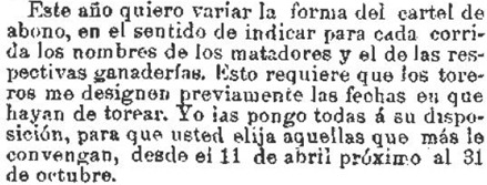 1909-03-31 La Correspondencia  Mosquera cambiar el modo del cartel
