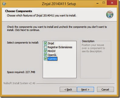 ZinjaI installation options