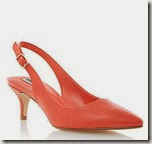 Dune Pointed Toe Orange Stiletto Sling Back