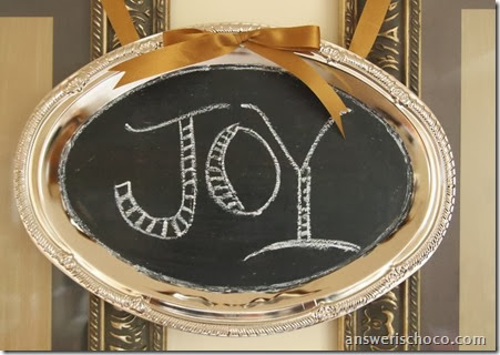 Chalkboard JOY Tray