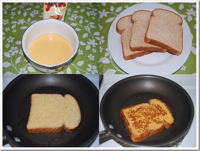 Custard French toast Process