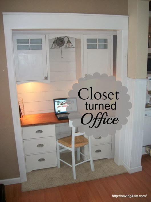 closet turned office #diy