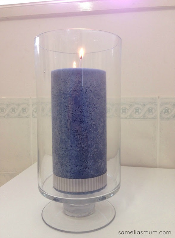 Target Bathroom Glass Hurricane Candle