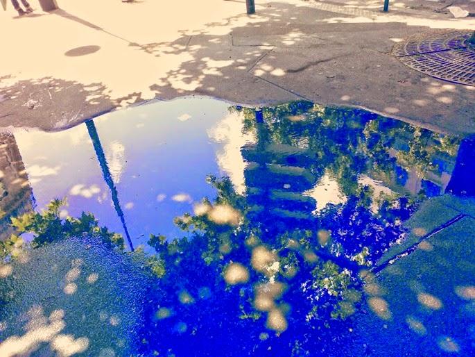 pluie boulevard parisien