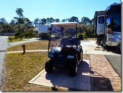 Parking pad for golf cart only