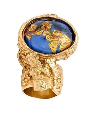 ysl blue gold arty ring