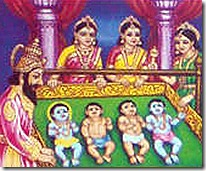 Four sons of King Dasharatha and his wives
