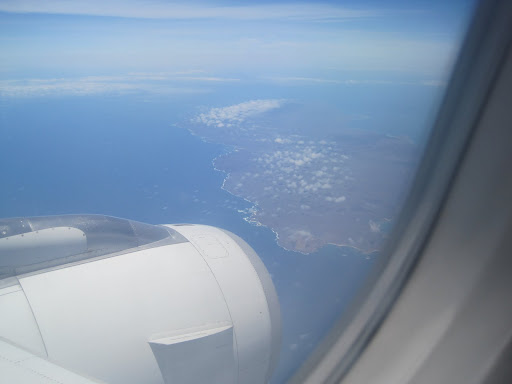 Our first view of the Galapagos Islands!