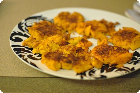 """hot crash"" sweet potato with cayenne and spices"