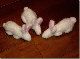 Needle Felting a Bunny From Homeschool Mo - 22