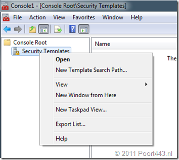 AD GPO Security Template Search Path