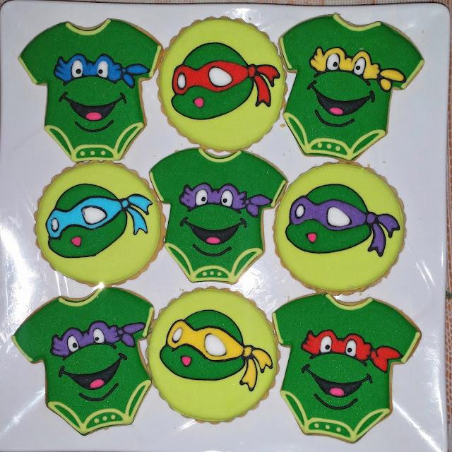 baby ninja turtle cookies