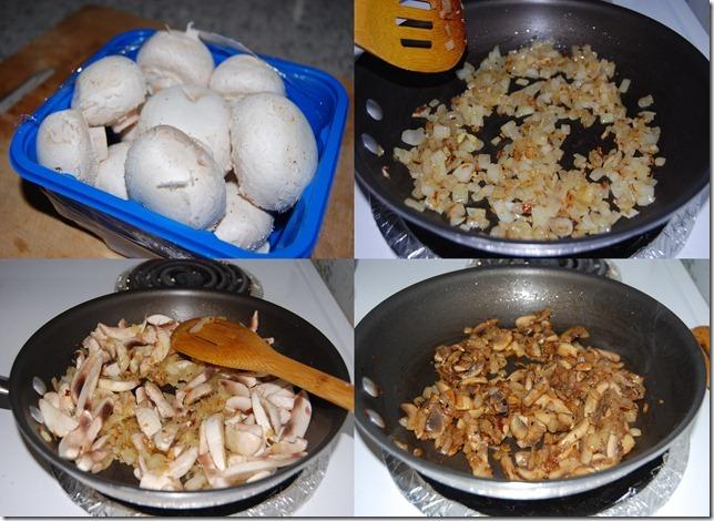 Mushroom pepper fry process