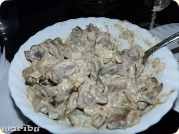 Latgalskij salat s pecenju