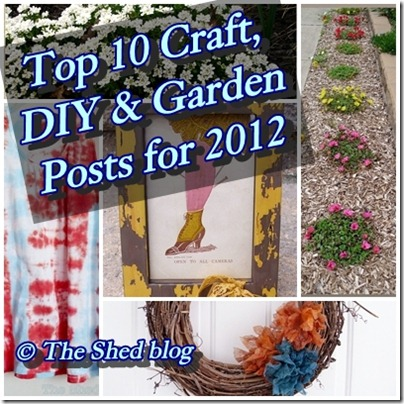 2012 Top Ten DIY and Garden Posts from Pet Scribbles