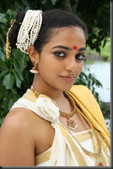Nithya Menon in old keral style