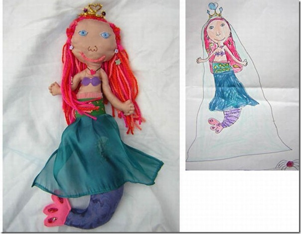 Brinquedos de pelúcia feitos a partir de desenhos de crianças (11)