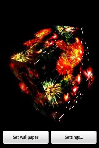 三維可愛的花火